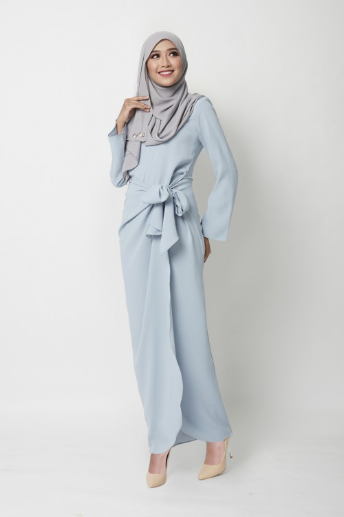 JERVAINE DRESS - DUSTY BLUE