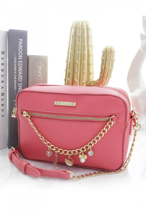 ALESSIA ZIPPER BAG - FUCHSIA PINK