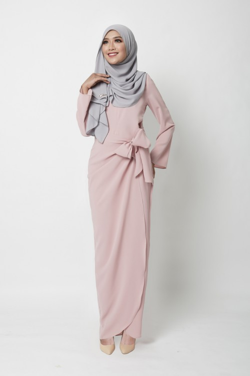 JERVAINE DRESS - DUSTY PINK